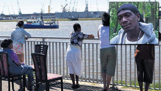 De kade waar Ramsis Kwidama (kader) in het water sprong.