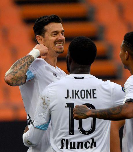Lille neemt koppositie weer over van Lyon met zege in Lorient, Olympiakos speelt gelijk