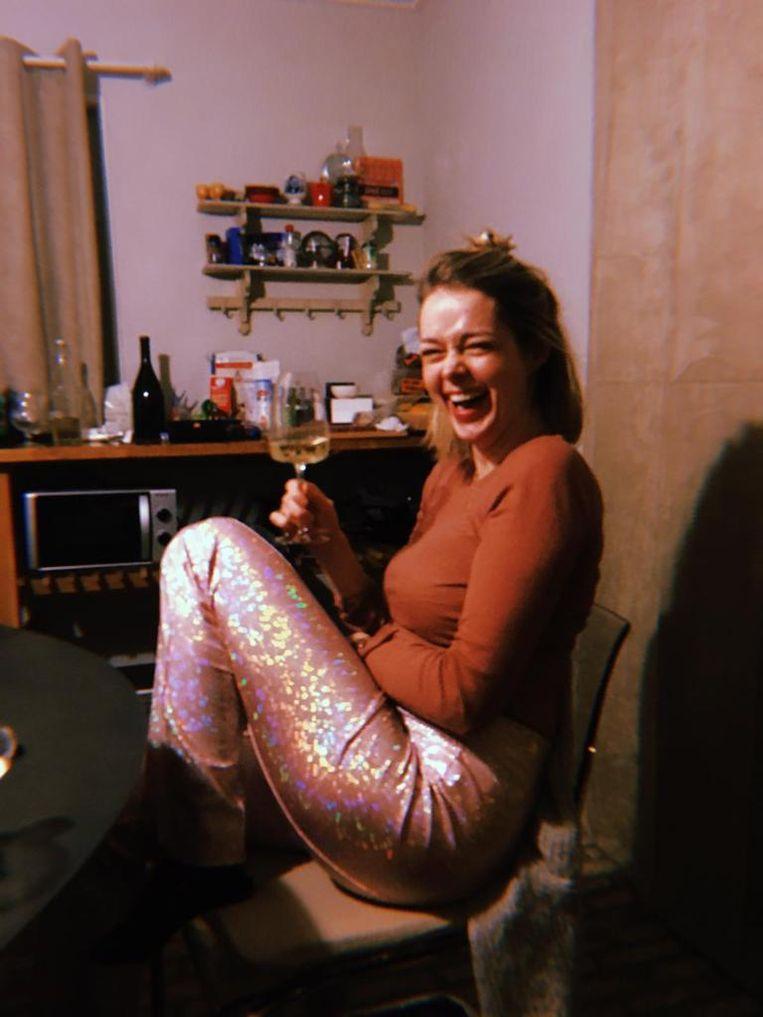 Lisa Koetsenruijter in glitterbroek Beeld Privéfoto