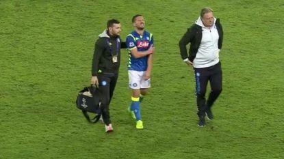 Dries Mertens met verstuiking schouder vroegtijdig naar de kant in draw tussen Napoli en PSG