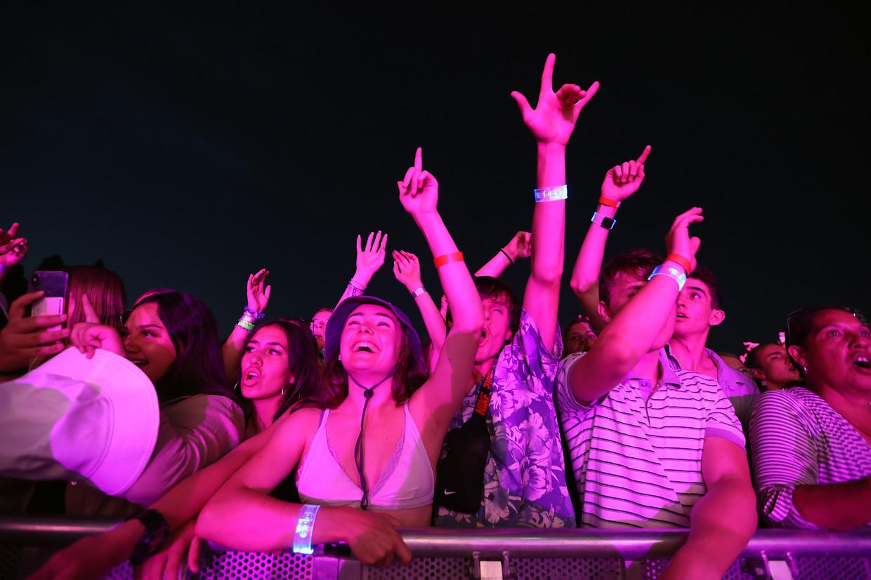Post-corona concert in Waitangi in januari, met 20 duizend bezoekers het grootste evenement in Nieuw-Zeeland sinds de uitbraak van de coronapandemie. Beeld Getty Images