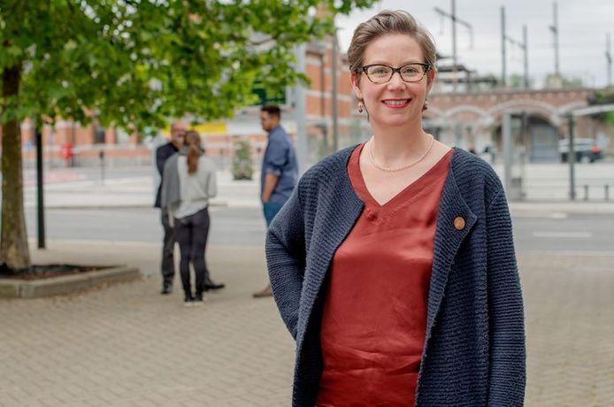 Barbara de Bakker (Groen) is sinds begin dit jaar als kersvers schepen bevoegd voor onder meer Mobiliteit.