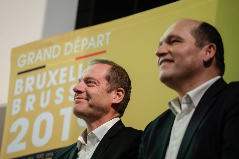 Christian Prudhomme en Philippe Close.