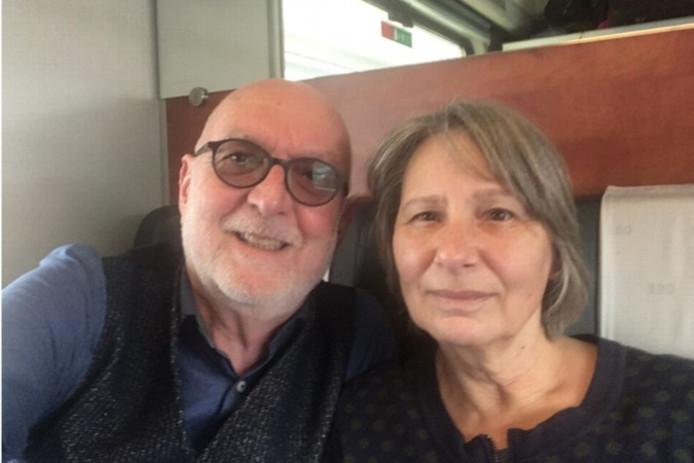 Frans Smeets en zijn vrouw.