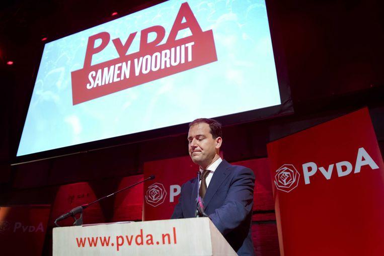 PvdA-leider Asscher is teleurgesteld.