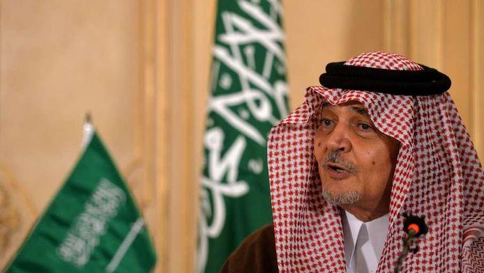De Saoedische minister van Buitenlandse Zaken, prins Saud al-Faisal