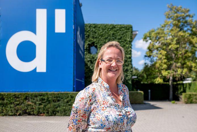 Sophie D'Hulst op de huidige bedrijfssite in de Lierse stationsbuurt.