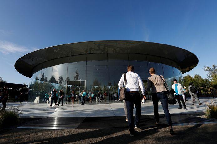 Het hoofdkwartier van Apple in Cupertino (California) in de VS.