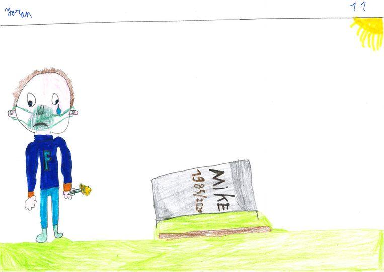 Kindertekeningen over corona Joran, 11 jaar Beeld Humo