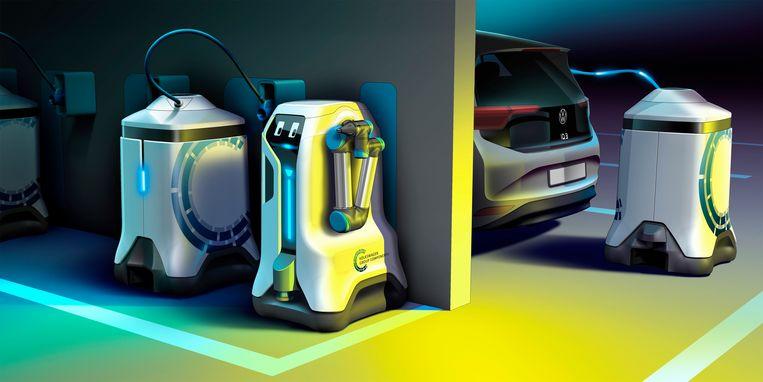 Mobiele oplaadrobot van Volkswagen.