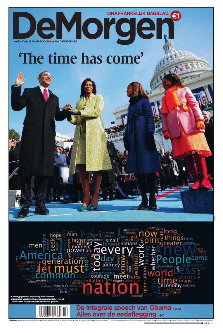 De inauguratie van president Barack Obama.  Beeld dm