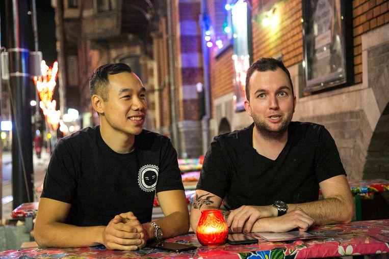 Melvin Tiao en Rick Edwards van Indonesisch cateringbedrijf Mister Makan Beeld Timmy Ling
