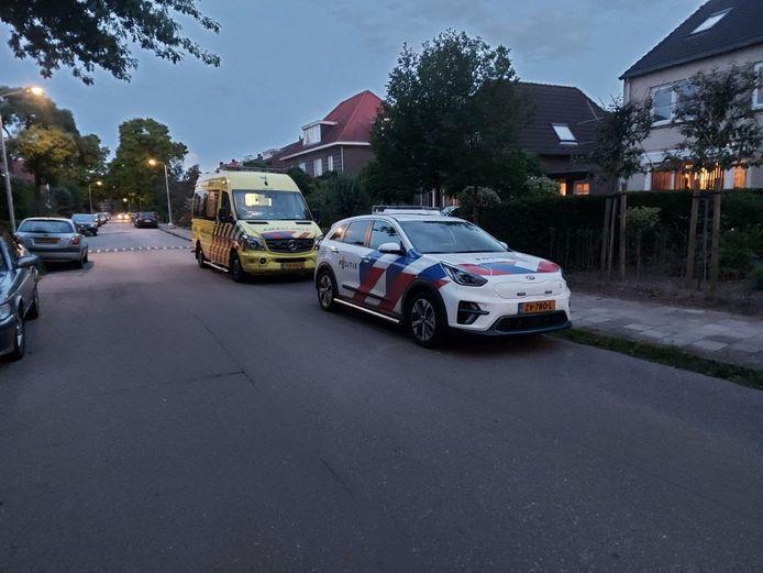 De situatie in de Bredeweg in Nijmegen na de beroving.
