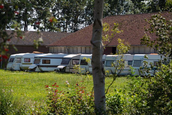 De caravans op het terrein van Berghorst.