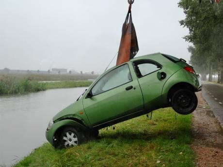 Automobiliste belandt in water tijdens uitwijken in Bemmel