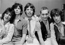Ronnie Wood, Keith Richards, Mick Jagger, Charlie Watts en Bill Wyman in New York in 1978.