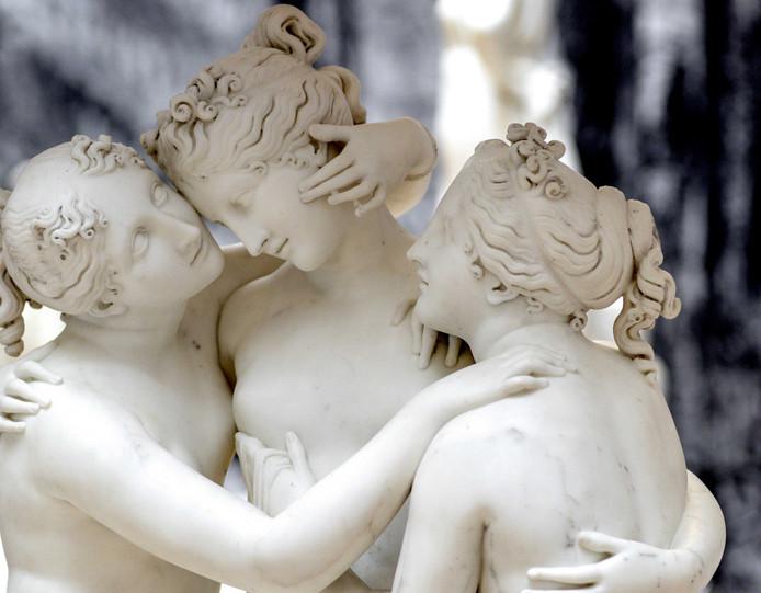 De drie gratien, van Antonio Canova.