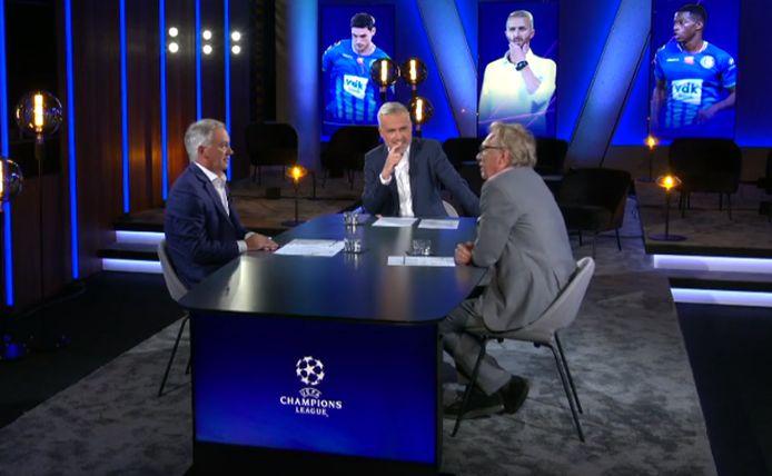 Maarten Breckx met CL-analisten Marc Degryse en Jan Mulder