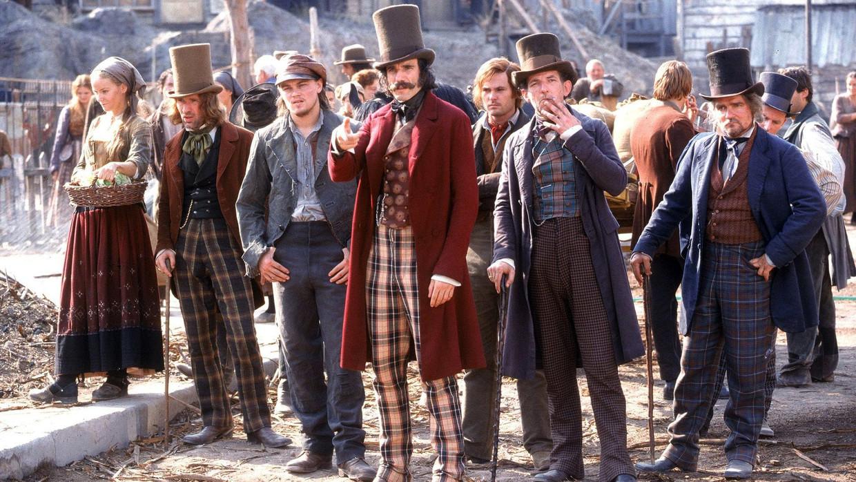 Leonardo DiCaprio en Daniel Day-Lewis in 'Gangs of New York'  Beeld TMDB