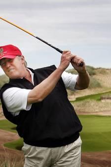 Trump en Woods samen op de golfbaan