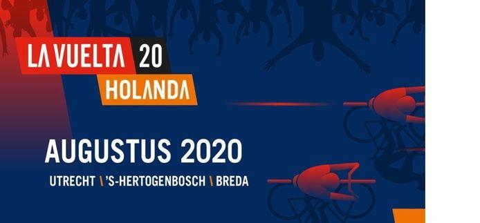Het logo van de Vuelta in 2020 in Nederland