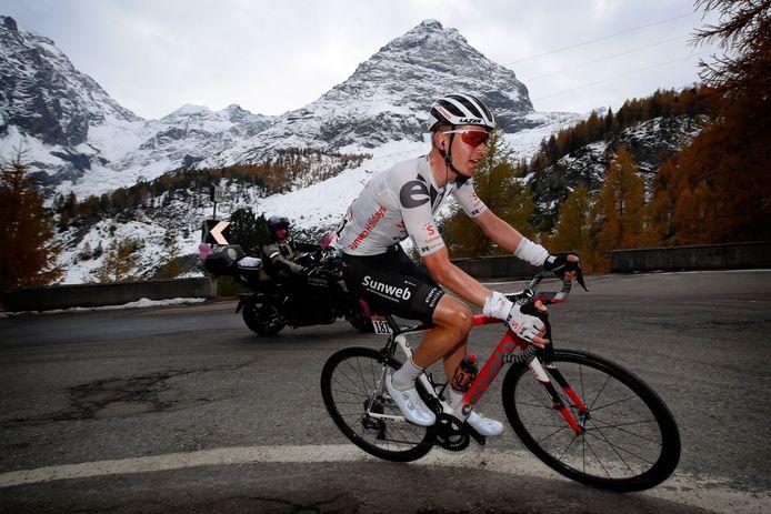 Wilco Kelderman tijdens de Giro d'Italia afgelopen zomer.