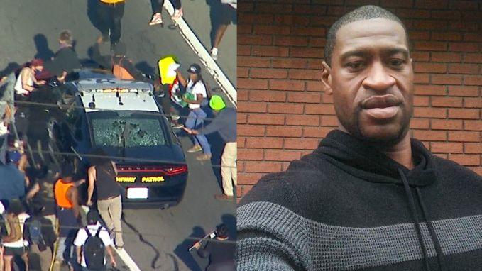 """Protest en rellen na dood zwarte man bij arrestatie in VS: """"Arresteer hem, de moordenaar!"""""""
