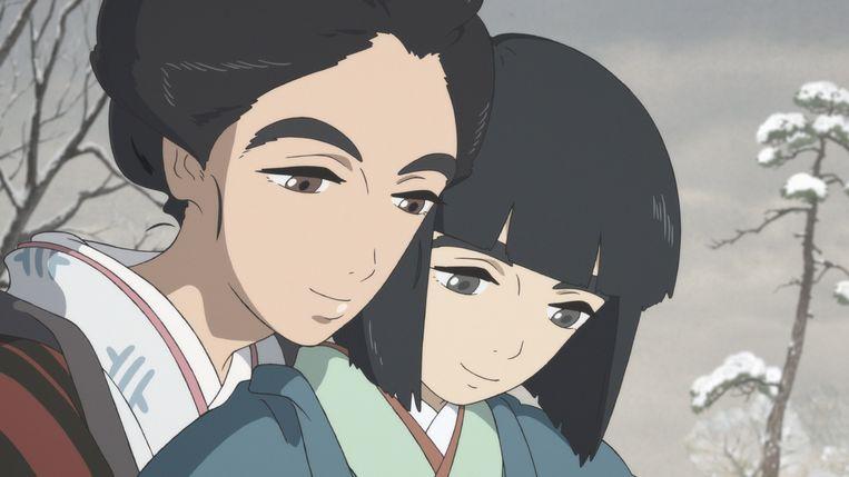 Een beeld uit de Japanse animatiefilm 'Miss Hokusai¿'. Beeld IG Production