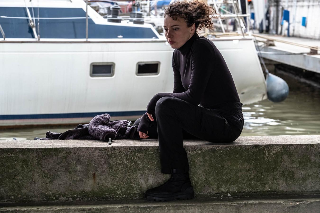 Marie Vinck op de set van 'Ritueel'.