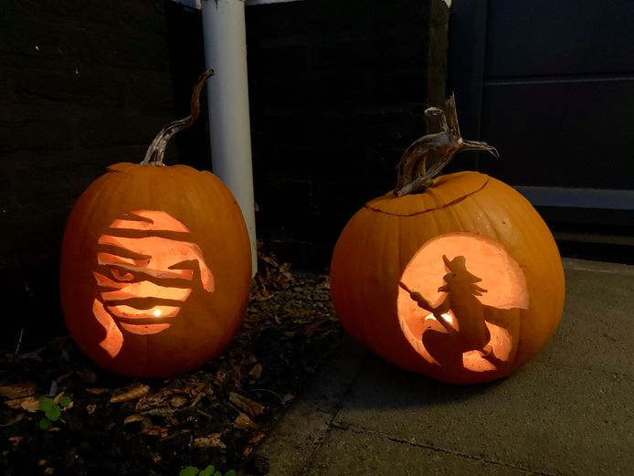 Pompoenen in aanloop naar Halloween.