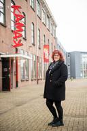Zakelijk leider Annie Tettero voor het theater dat moet verhuizen in verband met woningbouwplannen.