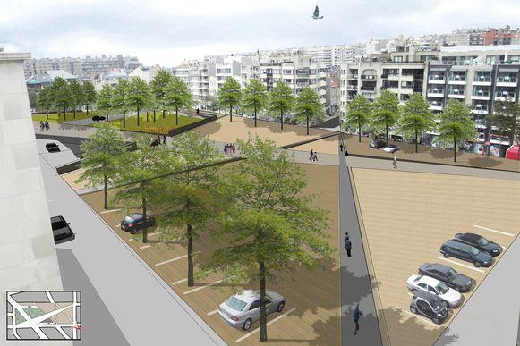 De plannen voor een nieuwe Grote Markt in Blankenberge zijn al vaak gewijzigd. Dit plan mag de vuilnisbak in.