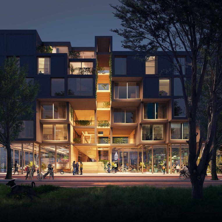 Voorbeeld van houtbouw van architectenbureau SeARCH. Beeld SeARCH en RAU