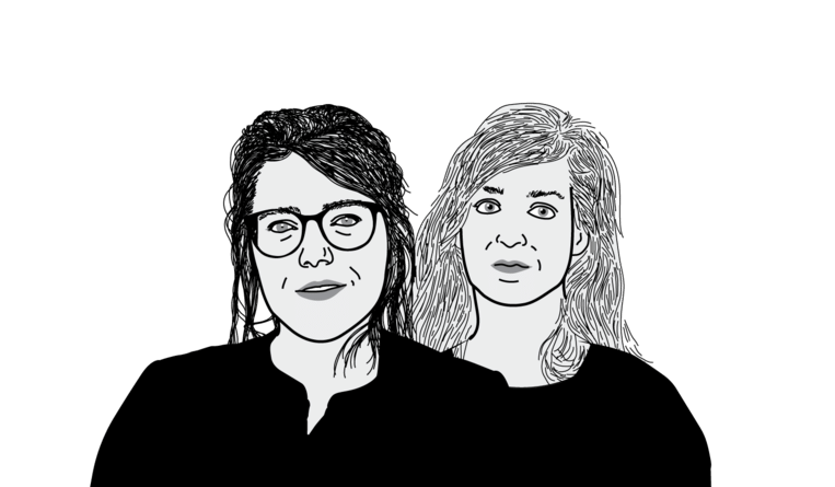 Sara Vandekerckhove en Femke van Garderen. Beeld DM