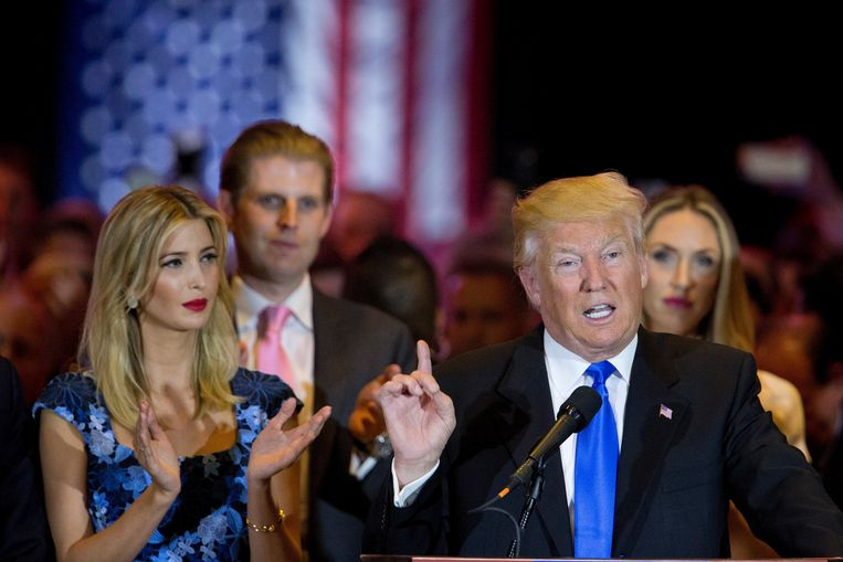 Ivanka en Donald Trump tijdens de verkiezingscampagne van 2016. Beeld AP