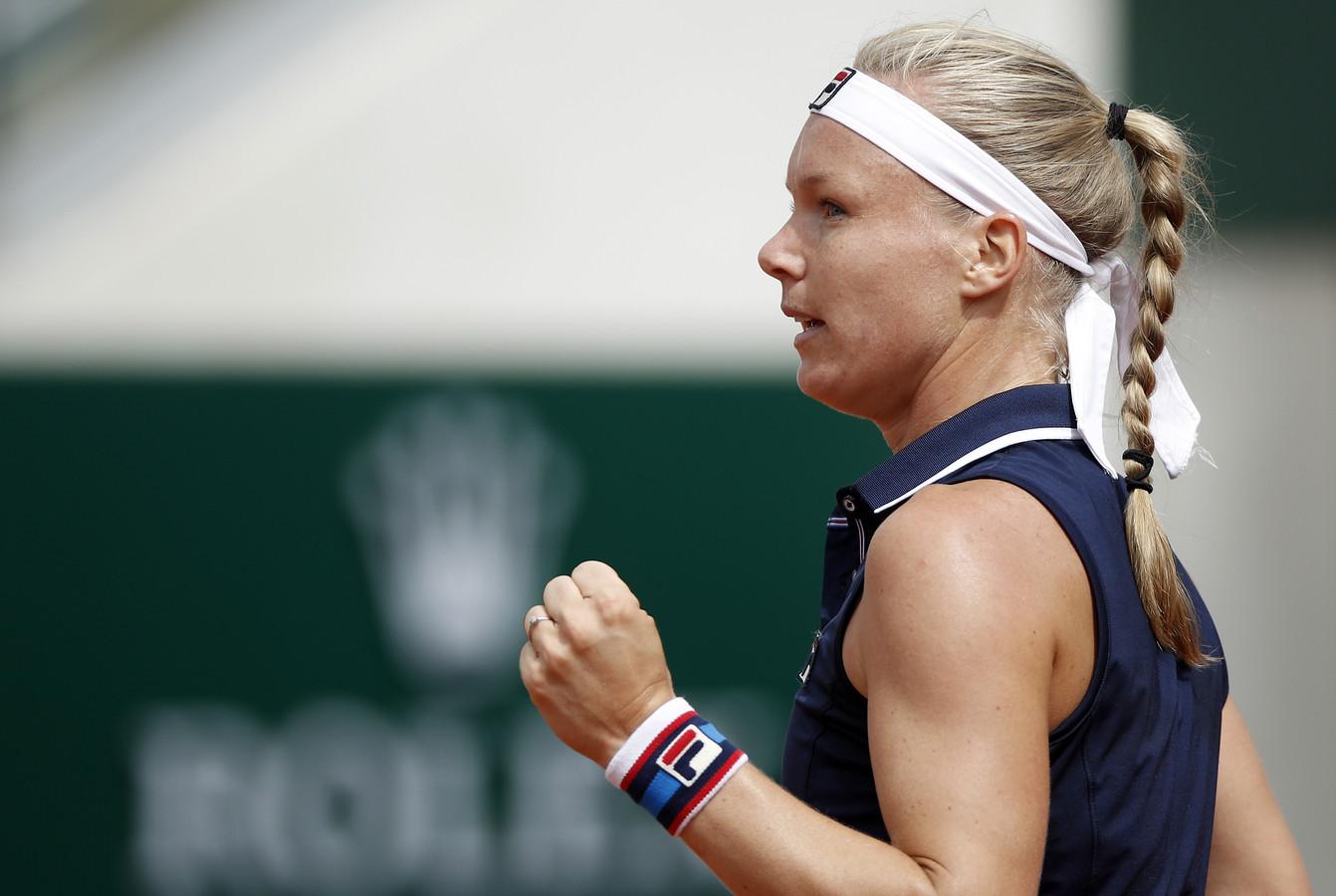 Kiki Bertens tijdens Roland Garros dit jaar.