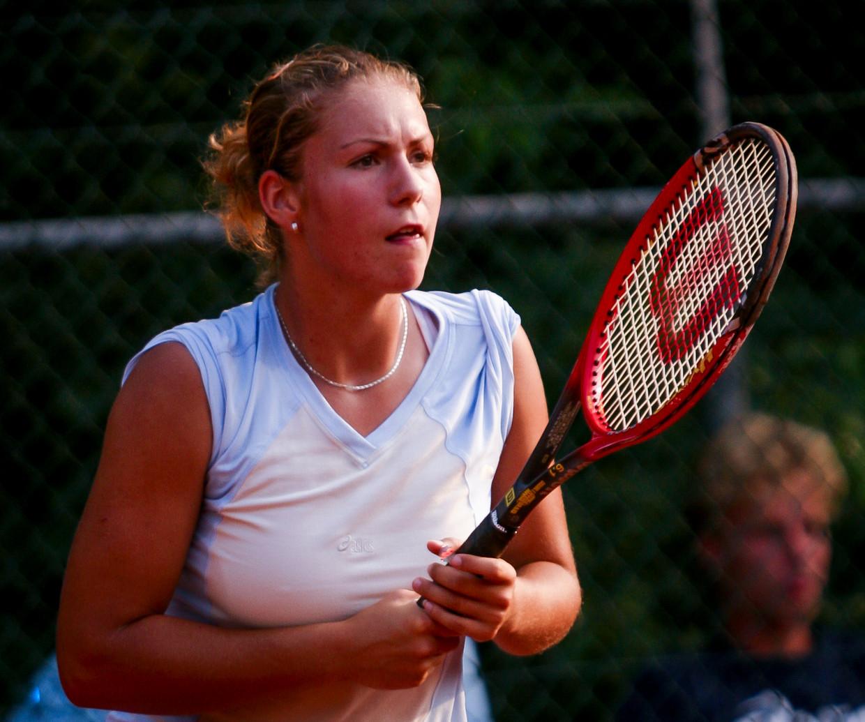 Silvana Bauer tijdens  de Nationale Kampioenschappen in 2002 in Ede.
