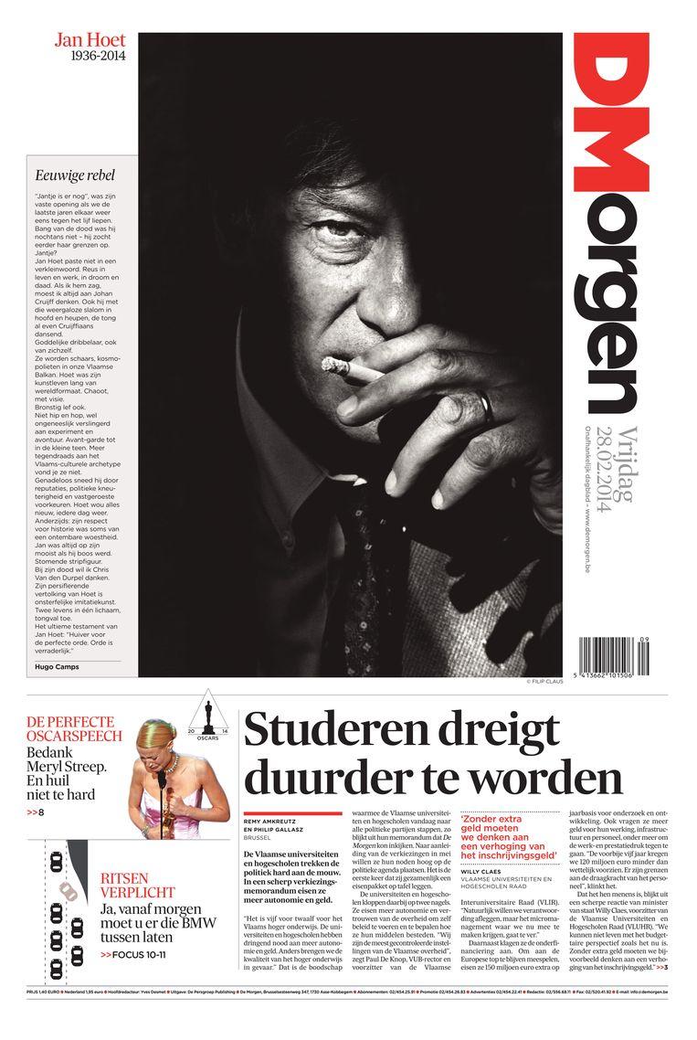 28 februari 2014. Het overlijden van kunstpaus Jan Hoet. Beeld dm