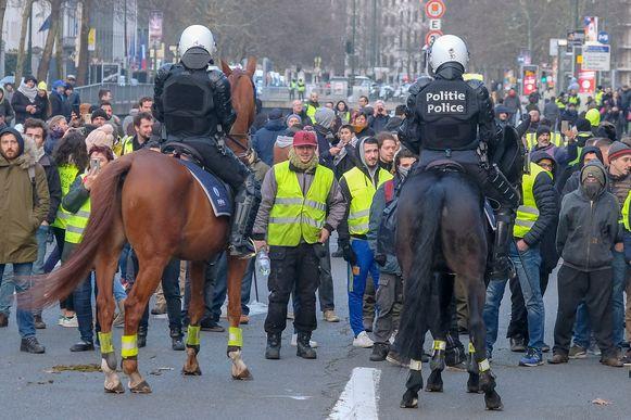 Manifestatie van de gele hesjes
