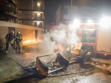 Huisraad in brand door vuurwerk