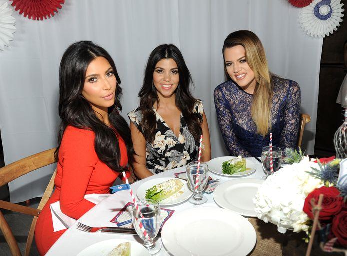 Kim, Kourtney and Khloé Kardashian in 2014 in Jersey City.