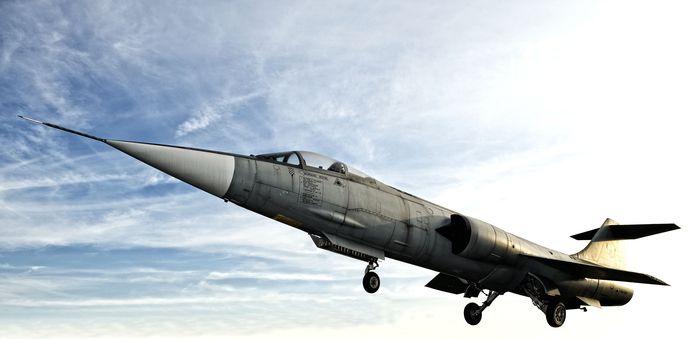 Illustratiebeeld. De F-104 Starfighter fighter. Toestellen van dit type werden door het team van onze getuige uitgerust met kernwapens.
