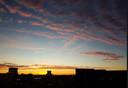 De zonsopgang in Wageningen vastgelegd door twitteraar Maarten Stam..