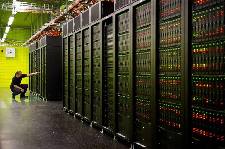 Een supercomputer van de University in Dresden (archiefbeeld)