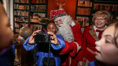 Selfies nemen met de kerstman