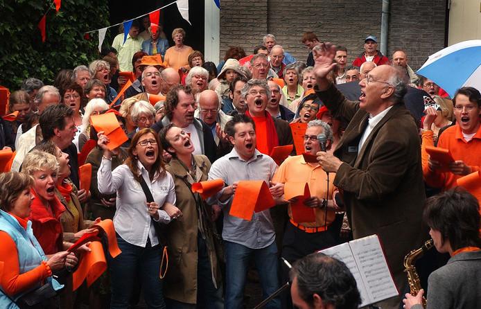 De samenzang bij Café Verheyden op archiefbeeld uit 2007.