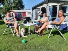 Iedereen happy op de camping; de gasten en de campingbaas ... wat een (na)zomer!
