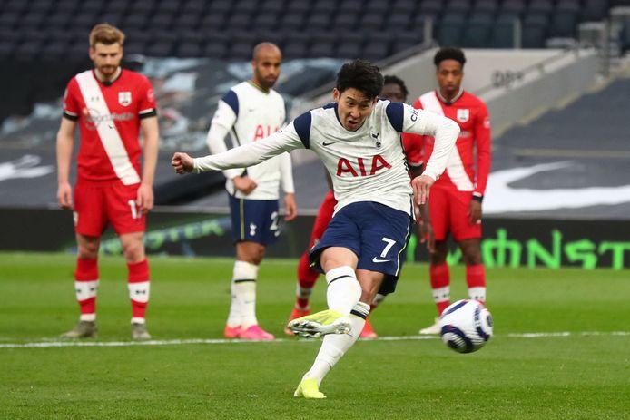 Heung-min Son schiet Spurs naar de zege.