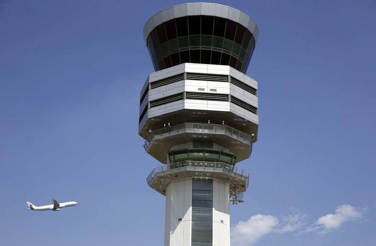Ook de luchtverkeersleiders van Belgocontrol op de luchthaven van Zaventem gingen dit jaar al in staking. Beeld Tim Dirven
