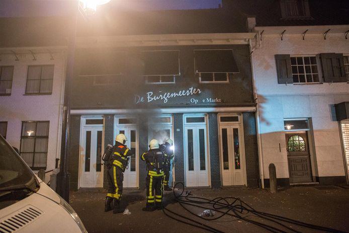 Brand in centrum Etten-Leur.